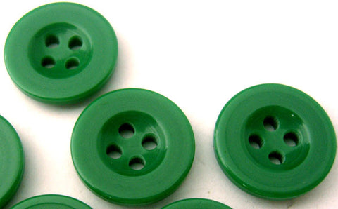 B2466 17mm Dusky Parakeet Green 4 Hole Trouser or Brace Type Button - Ribbonmoon