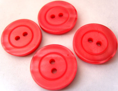 B2696 20mm Tonal Geranium Pink Pearlised Surface 2 Hole Button - Ribbonmoon