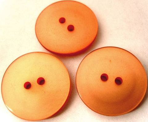 B2769 23mm Burnt Apricot Pearlised Surface 2 Hole Button - Ribbonmoon