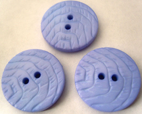 B2813 23mm Orchid Blue Gloss Textured 2 Hole Button - Ribbonmoon
