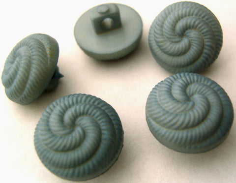 B2936 15mm Pale Dusky Blue Chunky Domed Textured Shank Button - Ribbonmoon