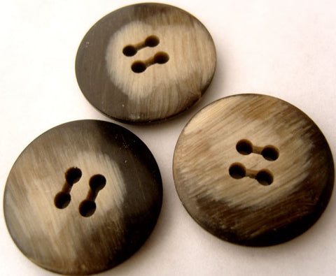 B3016 25mm Frosted Dark Browns Glossy 4 Hole Button - Ribbonmoon