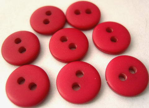 B3091 11mm Dull Pinky Red Soft Sheen 2 Hole Button - Ribbonmoon