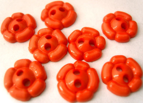 B3199 11mm Orange Flower Shaped 2 Hole Button - Ribbonmoon