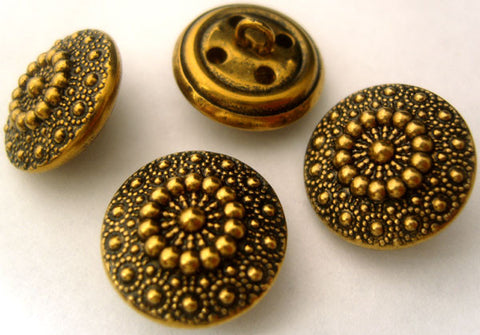 B4010 18mm Antique Brass Metal Alloy Shank Button - Ribbonmoon