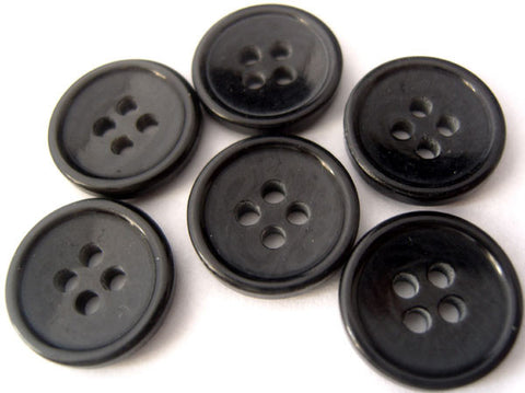 B4017C 15mm Deep Midnight Navy High Gloss 4 Hole Buttons - Ribbonmoon