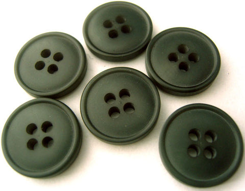 B4432 15mm Smoked Teal Grey Soft Sheen 4 Hole Button - Ribbonmoon