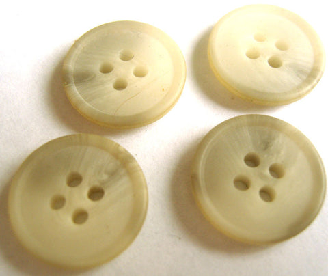 B4469 16mm Natural White and Pale Grey Bone Sheen 4 Hole Button - Ribbonmoon