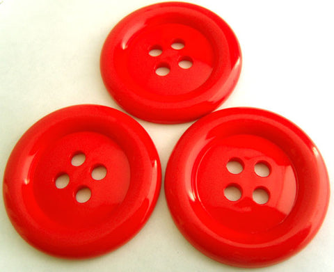 "B4495 51mm Flame Glossy 4 Hole ""Clown"" Button - Ribbonmoon"
