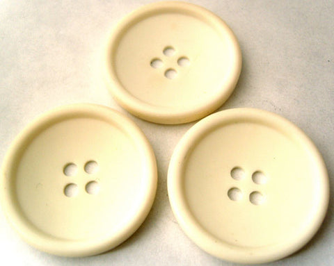 B4592 32mm Ivory Cream Soft Sheen 4 Hole Button - Ribbonmoon