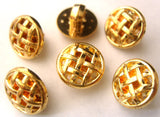 B7923 13mm Gilded Gold Poly Shank Button - Ribbonmoon