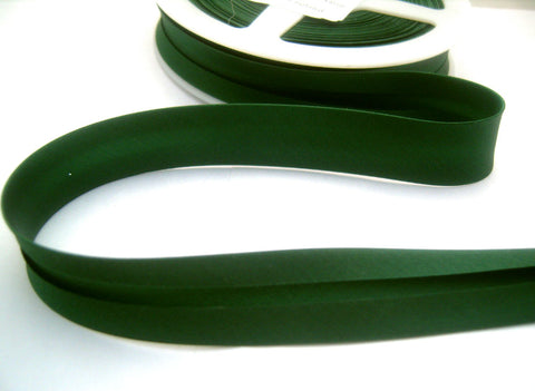 BB356 19mm Forest Green Satin Bias Binding Tape