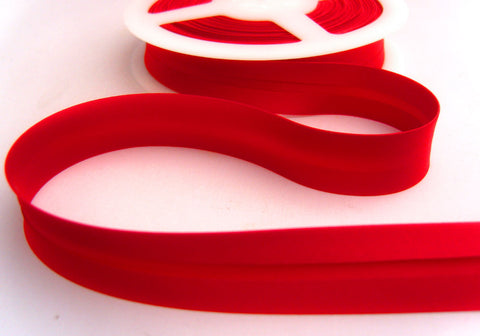 BB223 19mm Red Satin Bias Binding Tape - Ribbonmoon