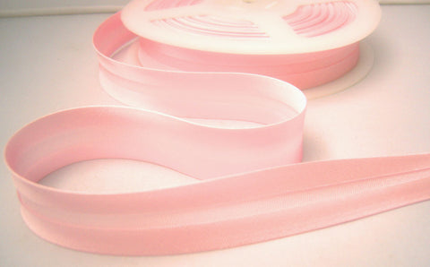 BB347 19mm Pale Pink Satin Bias Binding Tape - Ribbonmoon