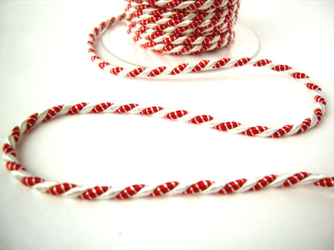 C466 4mm Red and White Rope Cord Twine