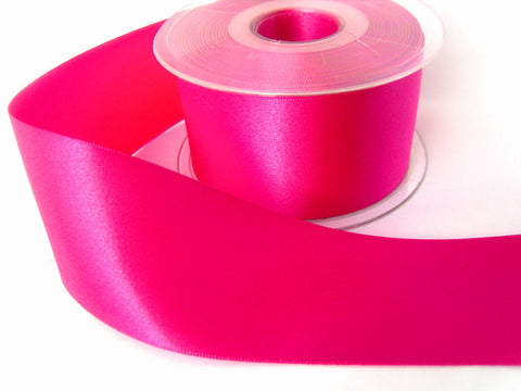 R3722 70mm Fuchsia Pink Double Face Satin Ribbon by Berisfords