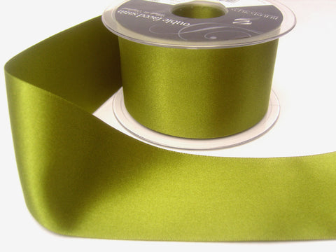R3624 25mm Moss Green Double Face Satin Ribbon by Berisfords