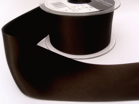 R5808 7mm Cuban Brown Double Face Satin Ribbon by Berisfords