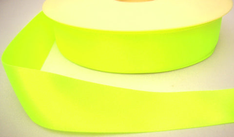 R4113 5mm Deep Fluorescent Yellow Double Face Satin Ribbon,Berisfords