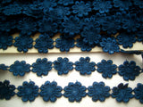 DT07 25mm Light Navy Guipure Daisy Lace Trimming