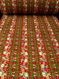 FABRIC15 36cm Waxed Cotton Fabric, Musical Mouse and Christmas Design