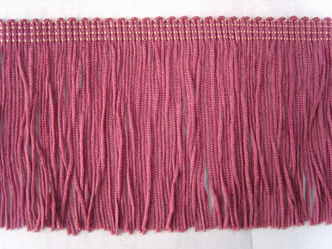 FT2220 75mm Raspberry Pink Cut Dress Fringe - Ribbonmoon