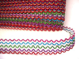 FT3117 22mm Metallic Red, Blue, Pink, Green and Purple Braid Trimming