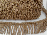 FT3118 55mm Taupe Beige Bullion Fringe