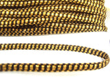 FT3123 8mm Metallic Gold and Black President Braid Trimming