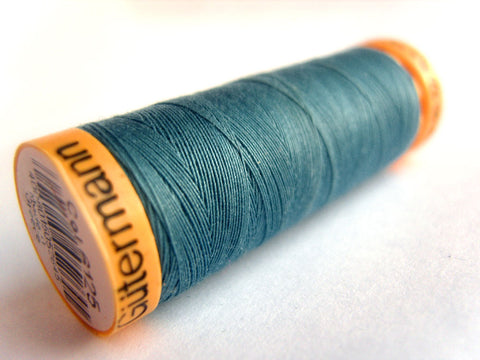 GTC 6125 Bright Dusky Blue Gutermann 100% Cotton Sewing Thread