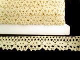 L012 31mm Natural Cream Cotton Flat Lace