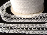 L504 31mm White Flat Eyelet Knitting in Lace