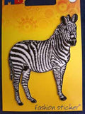 M456 Embroidered Zebra Design Iron or Sew on Motif