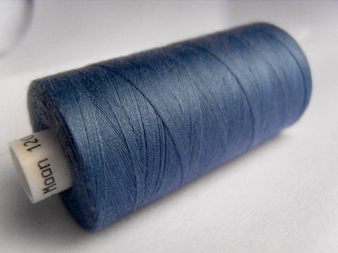 MOON 030 Deep Dusky Blue Coates Sewing Thread,Spun Polyester 1000 Yard Spool, 120's