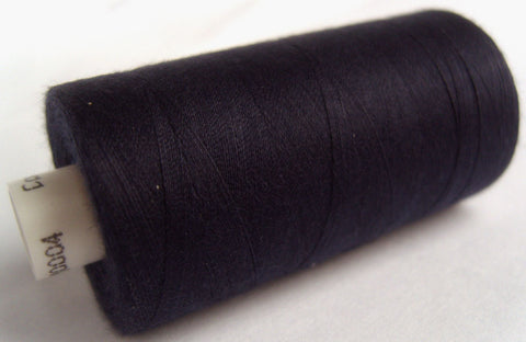 MOON 004 Navy Coates Sewing Thread,Spun Polyester 1000 Yard Spool, 120's