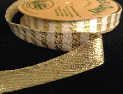 R0448 13mm Reversible Gold and Iridescent White Ribbon - Ribbonmoon
