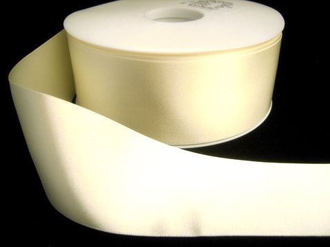R2539 70mm Bridal White Double Faced Satin Ribbon by Berisfords - Ribbonmoon