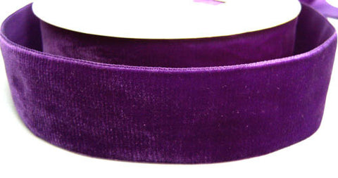 R1133 38mm Purple Nylon Velvet Ribbon - Ribbonmoon