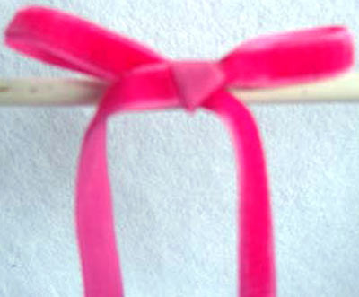R1195 8mm Shocking Pink Nylon Velvet Ribbon