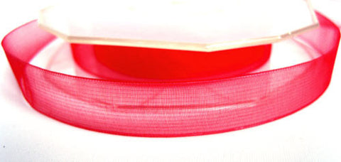 R1299 13mm Red Sheer Ribbon - Ribbonmoon