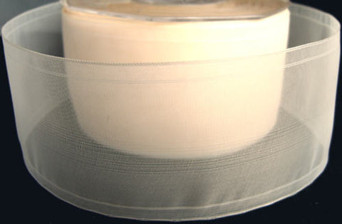 R1335 51mm Cream Sheer Ribbon - Ribbonmoon