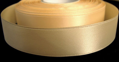 R1842 22mm Rich Cream Double Faced Satin Ribbon by Offray - Ribbonmoon
