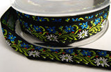 R1869 21mm Flowery Woven Jacquard Ribbon - Ribbonmoon