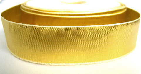 R2120 25mm Gold Thin Metallic Lurex Ribbon by Berisfords - Ribbonmoon
