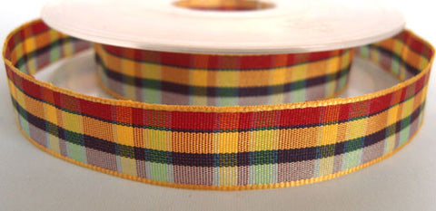 R2458 15mm Polyester Gingham Check Ribbon by Berisfords - Ribbonmoon
