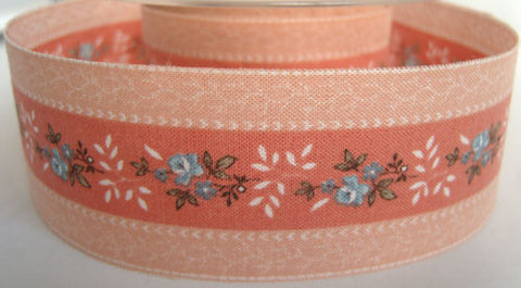 R2569 38mm 100% Cotton Flower Design Ribbon - Ribbonmoon
