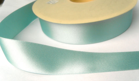 R6415 70mm Duck Egg Blue Double Face Satin Ribbon by Berisfords