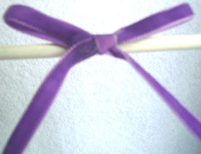 R2875 7mm Violet Nylon Velvet Ribbon by Berisfords