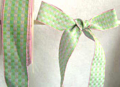 R3214 23mm Lilac, Pink and Mint Green Woven Jacquard Check Ribbon - Ribbonmoon