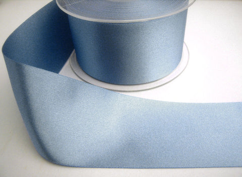 R0725 35mm Dusky Blue Single Face Satin Ribbon by Berisfords